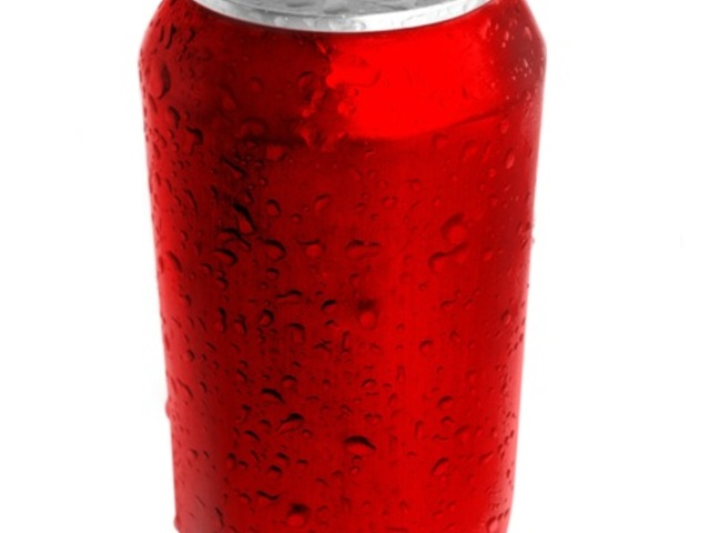 Large soda can red