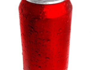 Thumb soda can red